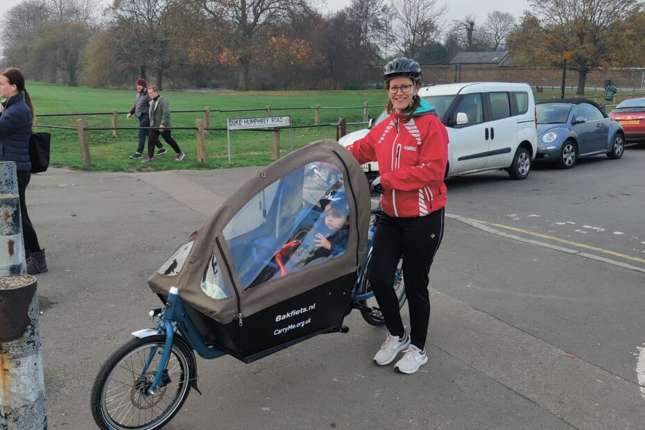 Mum with cargo bike